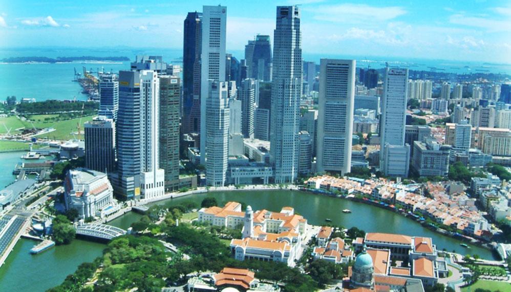 新加坡金融区俯瞰